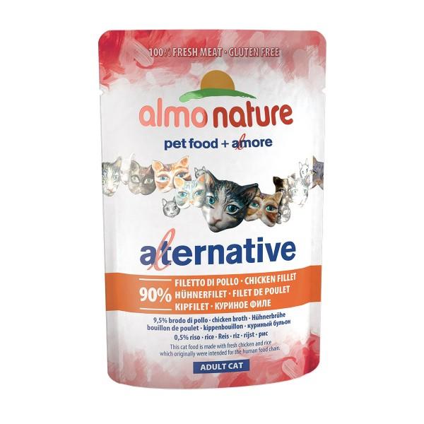 Haustier: Almo Nature Alternative wet Cat Hühnerfilet 24x55g