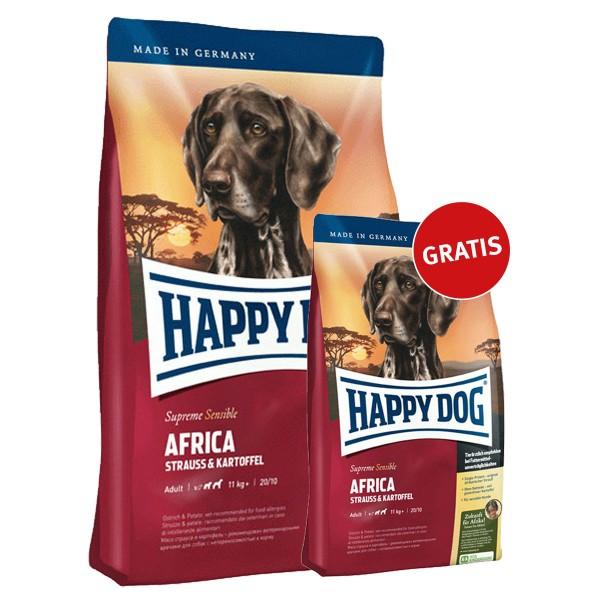 Happy Dog Supreme Sensible Africa 4kg + 1kg gratis