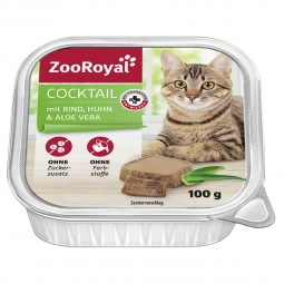 ZooRoyal Katzen-Nassfutter Cocktail mit Rind, Huhn & Aloe vera