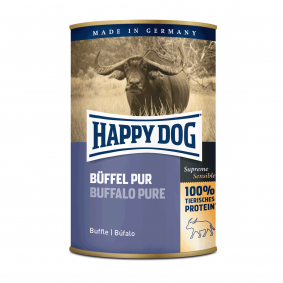 Happy Dog Hundefutter Büffel Pur 24x400g