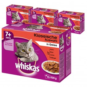 Whiskas Senior 7+ Fleischauswahl in Gelee 48x100g
