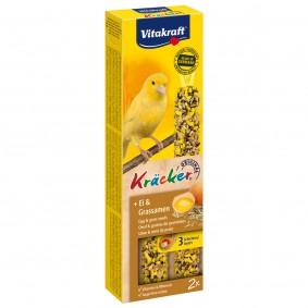 Vitakraft Kräcker mit Ei und Grassamen 2er Kanarien