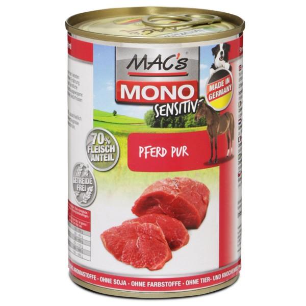 MAC's Dog Mono Hundefutter Sensitiv Pferd Pur