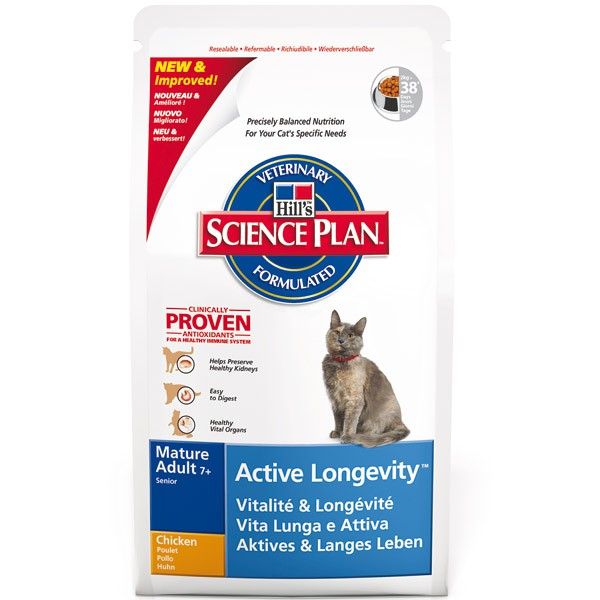 Hill's Science Plan Feline Active Longevity Mature Adult 7+ Huhn