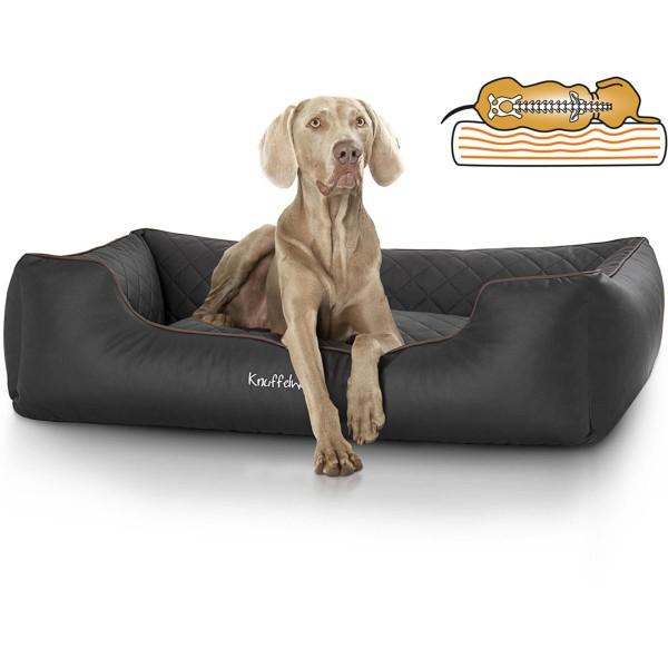 Knuffelwuff orthopädisches Hundebett Madison schwarz