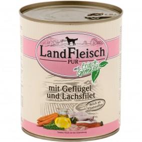 Landfleisch Dog Pur Geflügel & Lachsfilet