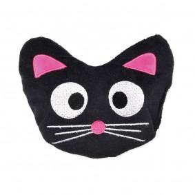 Aumüller Katzenspielkissen Katzenkopf Blacky mit Dinkelspelz und Baldrian