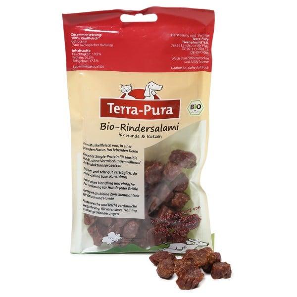 Terra Pura Hunde- und Katzensnack Bio Rindersalami in Scheiben 100g