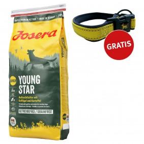 Josera Hundefutter Junior YoungStar 4kg + Reflektionshalsband GRATIS