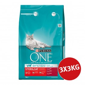 Purina ONE Bifensis Katzenfutter Sterilcat Rind 3x3kg
