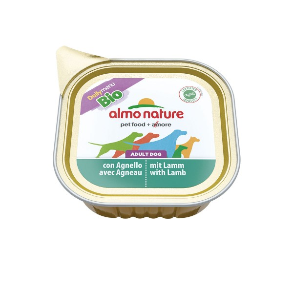 Almo Nature Daily Menu BIO Dog mit Lamm - 5+1 G...