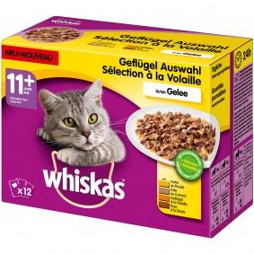 Whiskas Senior 11+ Geflügelauswahl in Gelee 12x100g