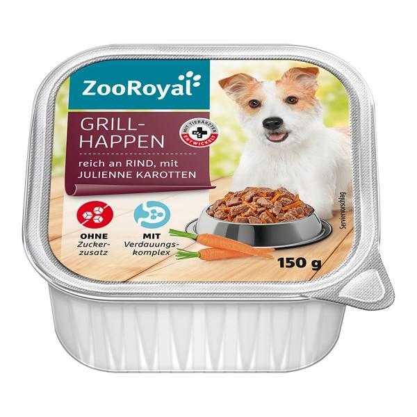 ZooRoyal Grillhappen reich an Rind mit Julienne-Karotten