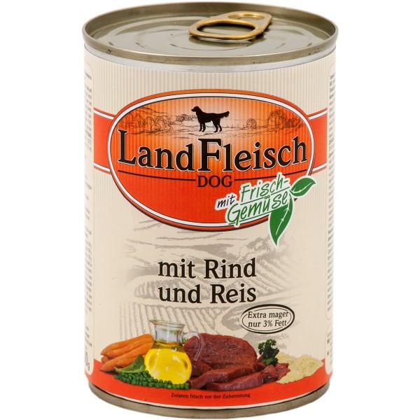 Landfleisch Hunde-Nassfutter Dog Pur Rind und Reis