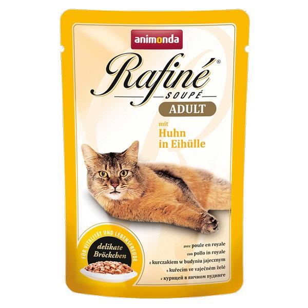 Animonda Katzenfutter Rafiné Soupé Adult mit Huhn in Eihülle