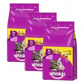Whiskas Katzenfutter 7+ mit Huhn 3x1,9kg