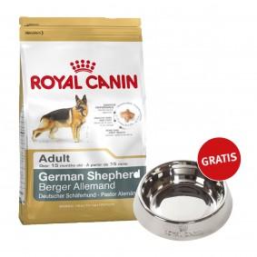 Royal Canin German Shepherd Adult 12kg + Edelstahlnapf silber gratis