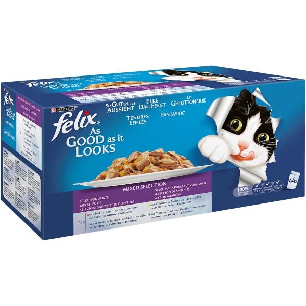 Felix So gut wie es aussieht Geschmacksvielfalt vom Land Multipack 44x100g