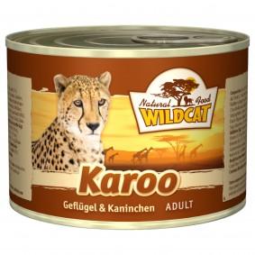 Wildcat Karoo Adult mit Geflügel und Kaninchen