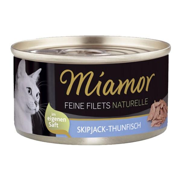Miamor Feine Filets Naturelle Skipjack und Thunfisch 80g Dose