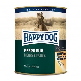 Happy Dog Hunde-Nassfutter Pferd Pur