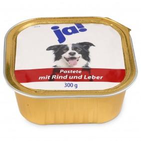ja! Hundefutter Pastete mit Rind und Leber