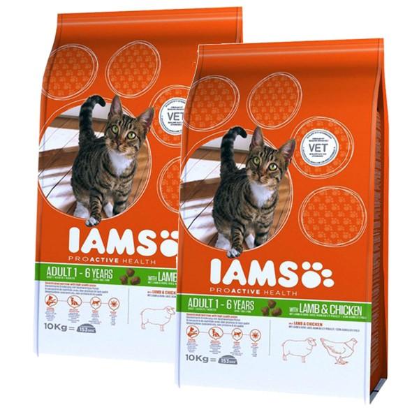 IAMS Katze Adult Lamm 2x10kg