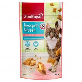 ZooRoyal Katzensnack Knusperkissen mit Lachs 70g
