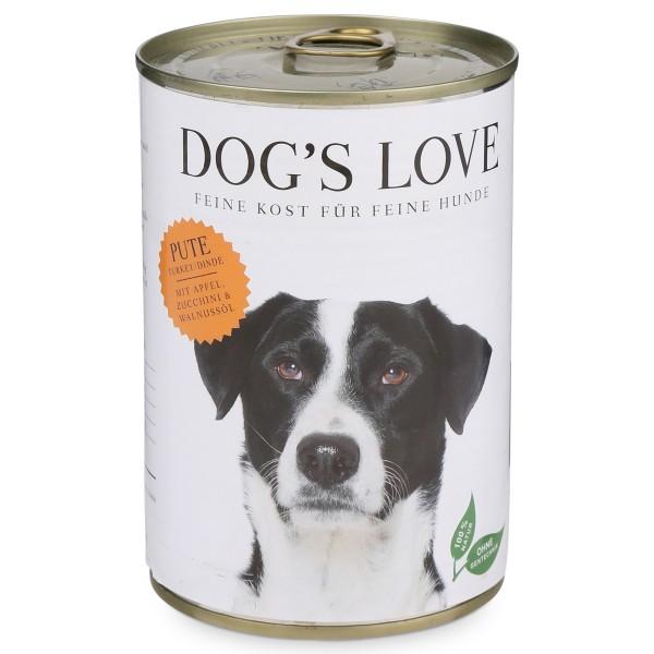 Dog's Love Futter Classic Pute mit Apfel, Zucchini & Walnussöl