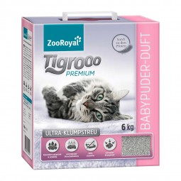 ZooRoyal Tigrooo Ultra-Klumpstreu mit Babypuder-Duft