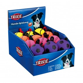 Trixie Neonball am Seil aus Moosgummi 6cm/30cm