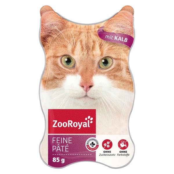 ZooRoyal Katzen-Nassfutter Feine Pâté mit Kalb