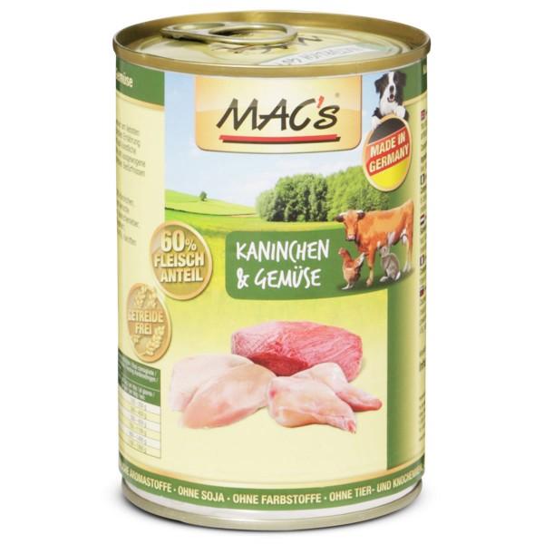 MAC's Dog Hundefutter Kaninchen und Gemüse