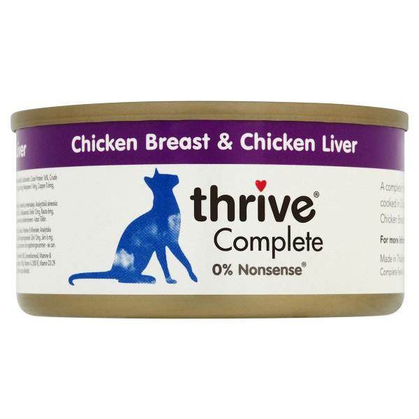 thrive Cat Complete Hühnerbrust & Hühnerleber 12x75g