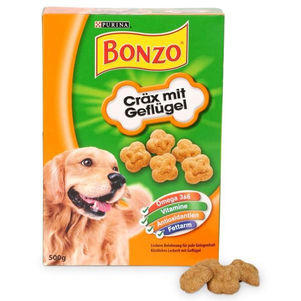 Bonzo Hundesnack Cräx mit Geflügel 500g