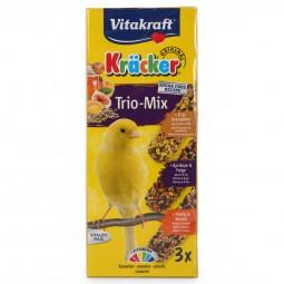 Vitakraft Kräcker Trio mit Ei, Frucht und Honig für Kanarienvögel