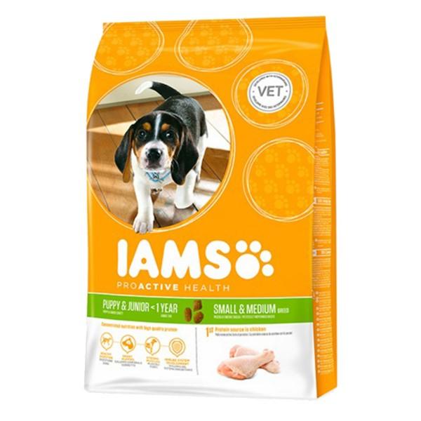IAMS Hund Trockenfutter Puppy & Junior Kleine & Mittelgroße Rasse Huhn