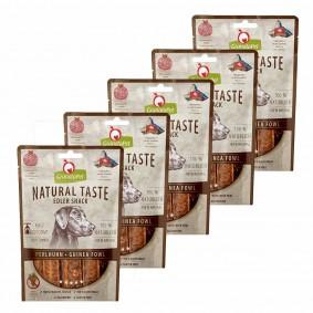 GranataPet Natural Taste Edler Snack Perlhuhn 5x90g