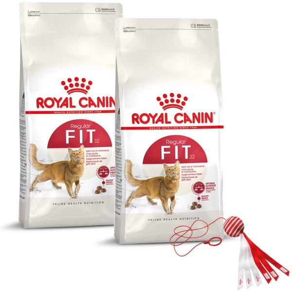 Royal Canin Katzenfutter Fit 2x10kg plus Spielzeug gratis