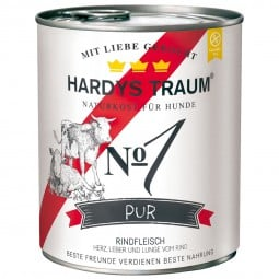 Hardys Traum Nassfutter Pur No. 1 Rind