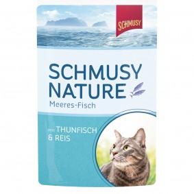 Schmusy Nature Meeres-Fisch Thunfisch & Reis 24x100g