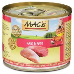 MAC's Cat Katzenfutter Fleischmenü Kalb & Pute