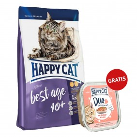 Happy Cat Supreme Best Age 10+ 300g plus Paté Geflügel & Lachs 100g