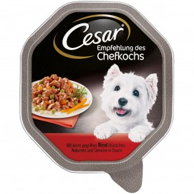 Cesar Empfehlung des Chefkochs mit Rind