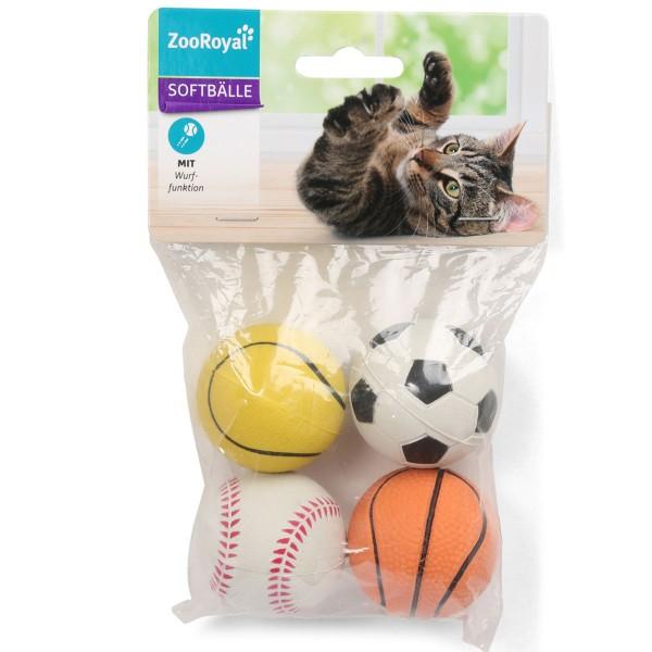 ZooRoyal Spielbälle aus Moosgummi 4er Set