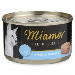 Miamor Katzenfutter Feine Filets in Jelly Thunfisch und Shrimps