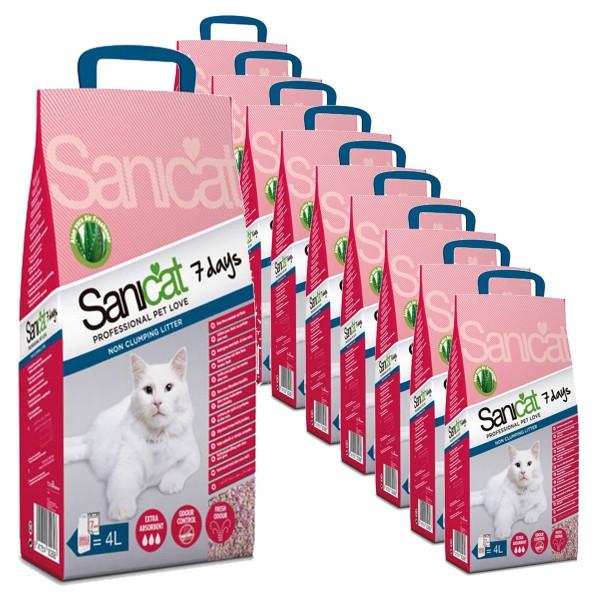Sanicat Katzenstreu 7 days Aloe Vera 10x4l
