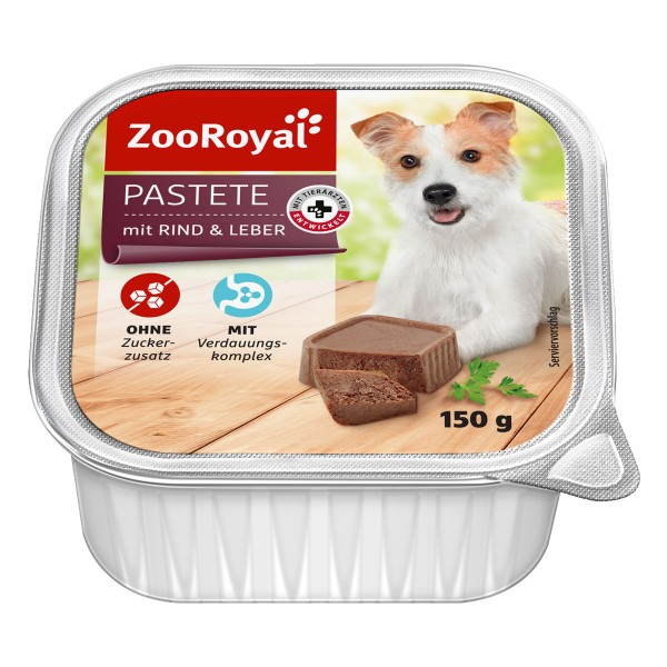 ZooRoyal Hunde-Nassfutter Pastete mit Rind & Leber