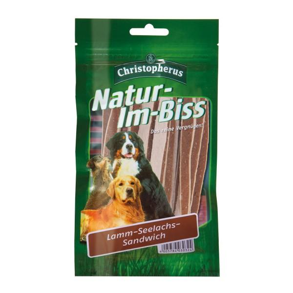 Christopherus Hundesnack Natur-Im-Biss Lamm-Seelachs Sandwich 70g
