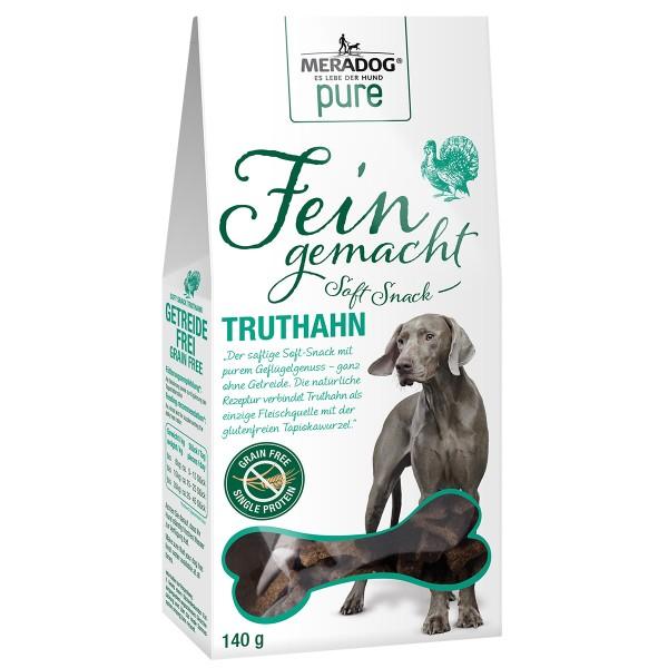 Mera Dog pure Fein Gemacht Soft-Snack Truthahn